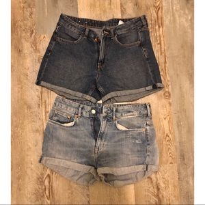 2 Pairs of H&M Jean Shorts